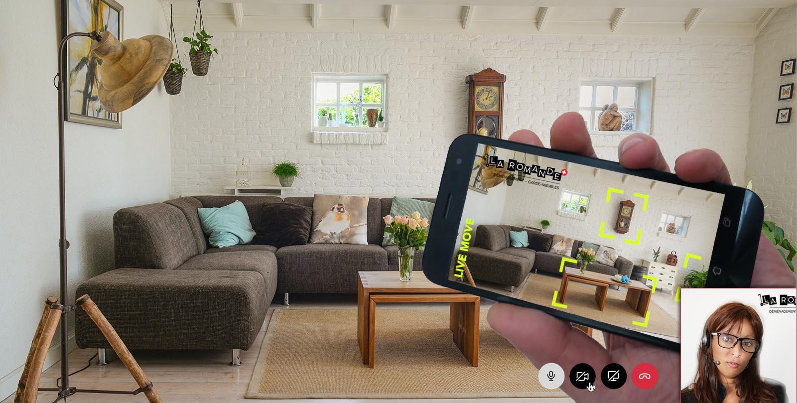 Visite virtuelle calcul devis déménagement